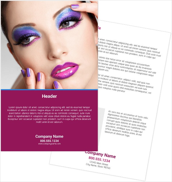 make up artist flyers
