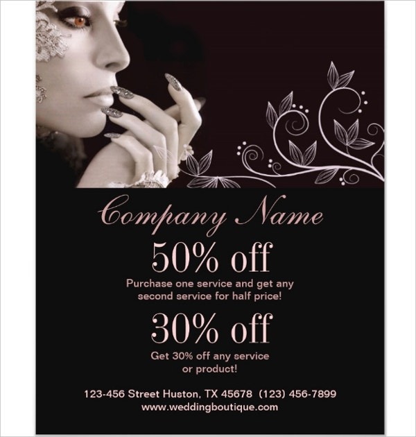 nail artist business flyer
