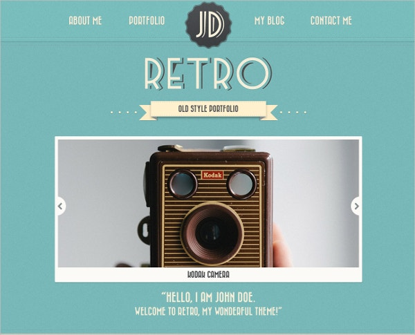 stylish retro portfolio vintage wordpress theme1