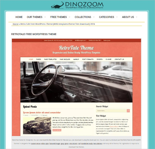 Free Retro Magazine WordPress Theme