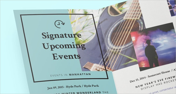 signature tri fold brochure template