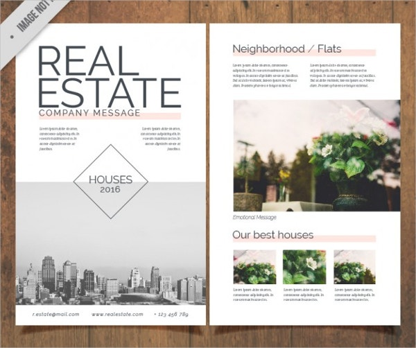 real estate flyer free vector