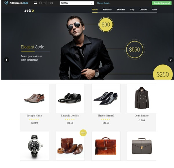 online shop retro wordpress theme1