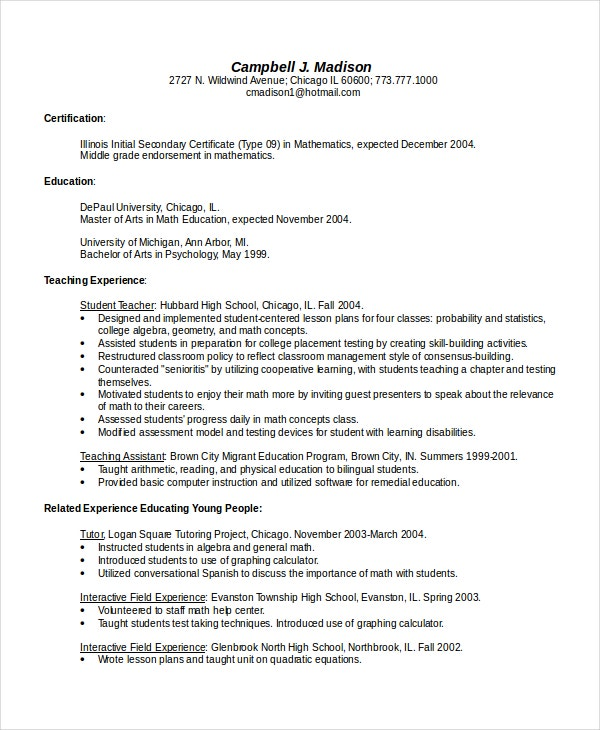 4  bilingual resume templates