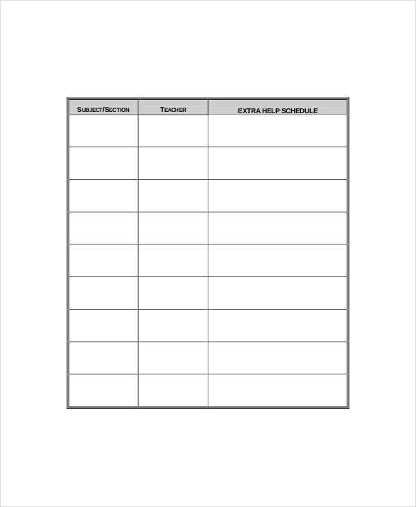 Daily Agenda Planner Template 4 Free PDF Documents Download – Daily Agenda Template