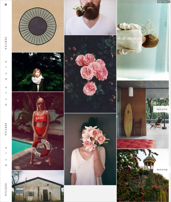 Photography Floral Tumblr Theme $29