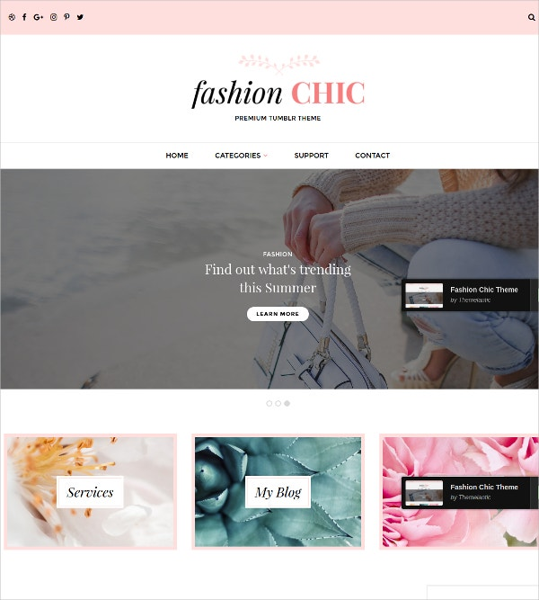 Fashion Floral Tumblr Theme