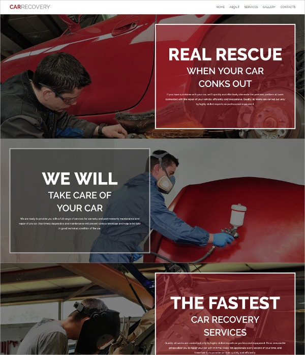 Auto Repair & Car Recovery Responsive Moto CMS Website Template $139