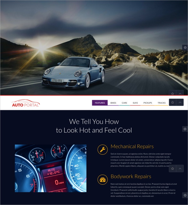 Auto Repair & Cars Portal WP Website Theme $39