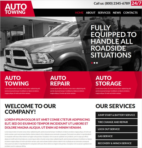 Automobile & Auto Repair Joomla Website Template $53