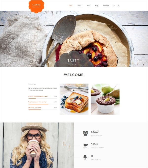 Responsive Cakes Drupal Website Template