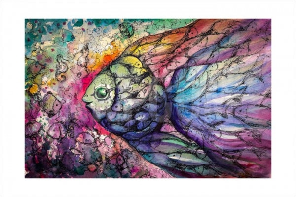 Watercolor Fish Painting