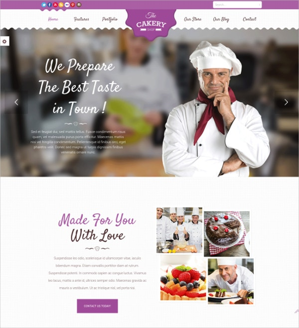Cake & Bakery WordPress Website Theme