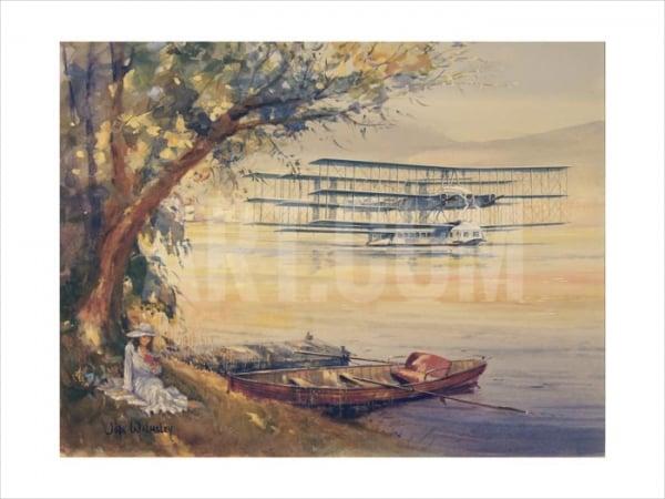 Passenger Plane Transatlantic Painting