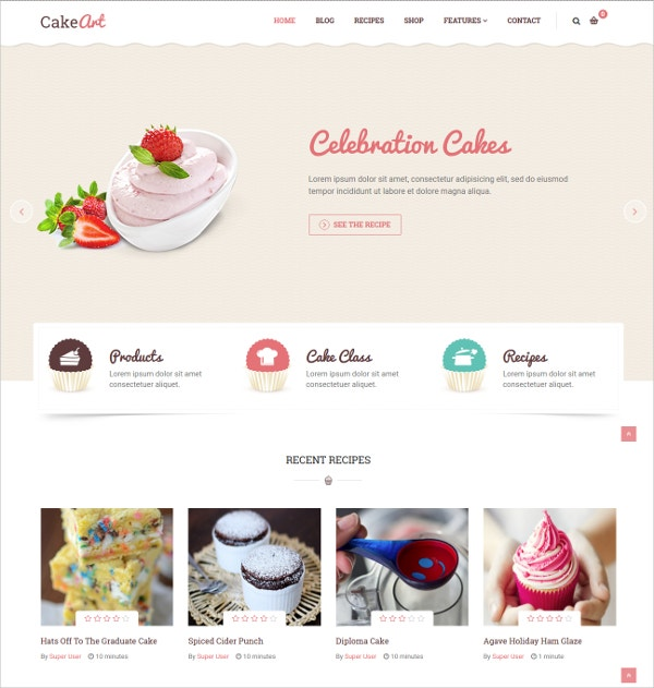 Joomla Bakery & Cake Website Theme