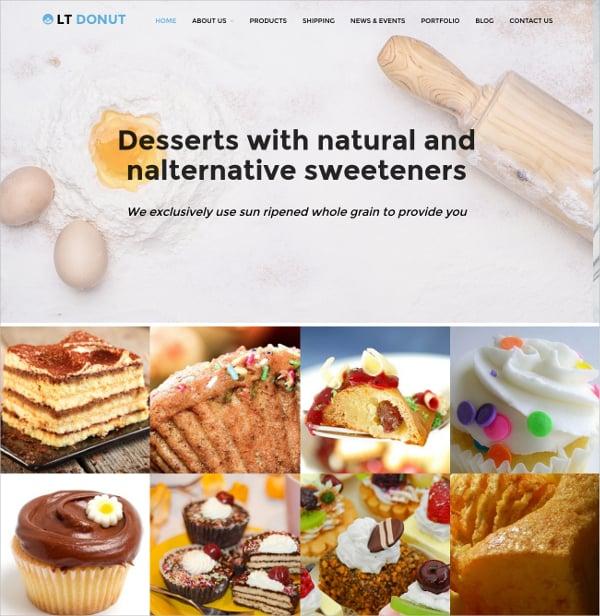 cake store wordpress website theme