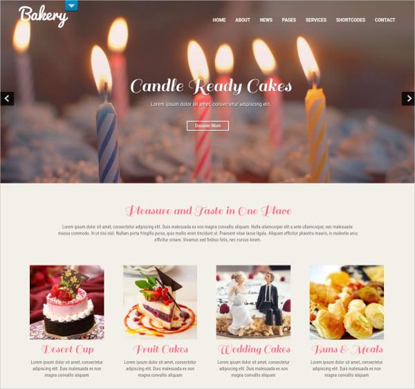 cake delicious memories wordpress website theme