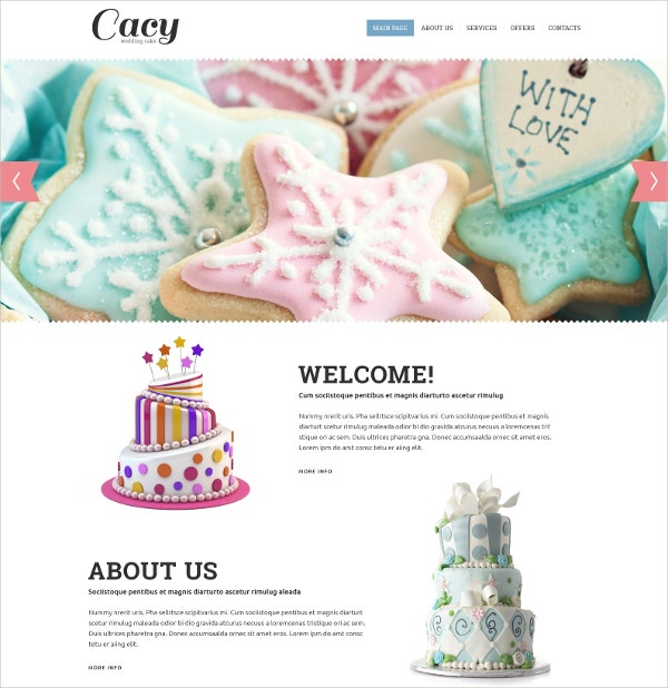 crispy cakes website template