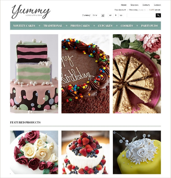 Delicious Cakes PrestaShop Website Theme