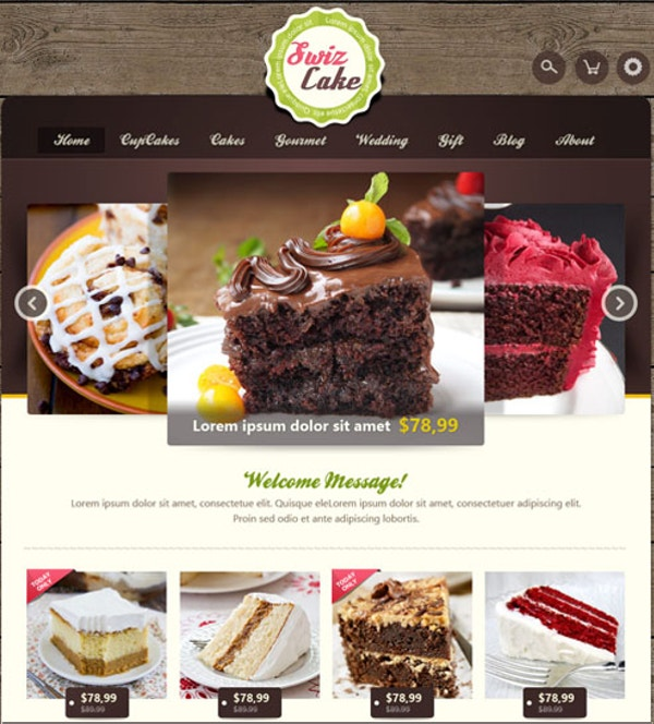 cake coffee shop joomla website template