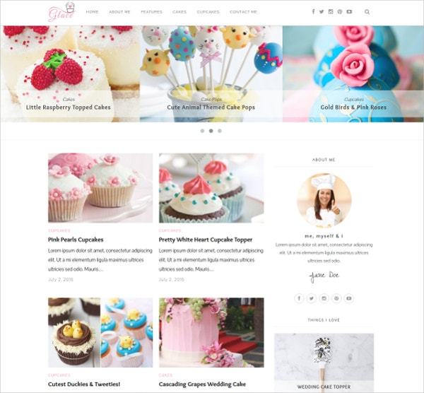 Cake &Bakes WordPress Website Theme