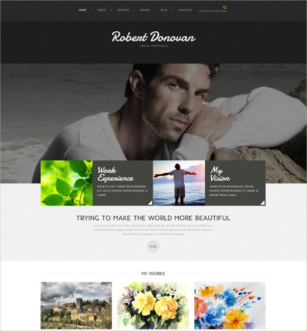 Artist Portfolio Website Themes Templates Free Premium - Artist portfolio website templates