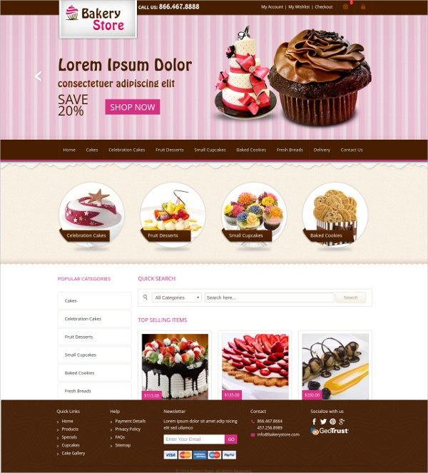 Bakery Store & Cake Magento Website Theme