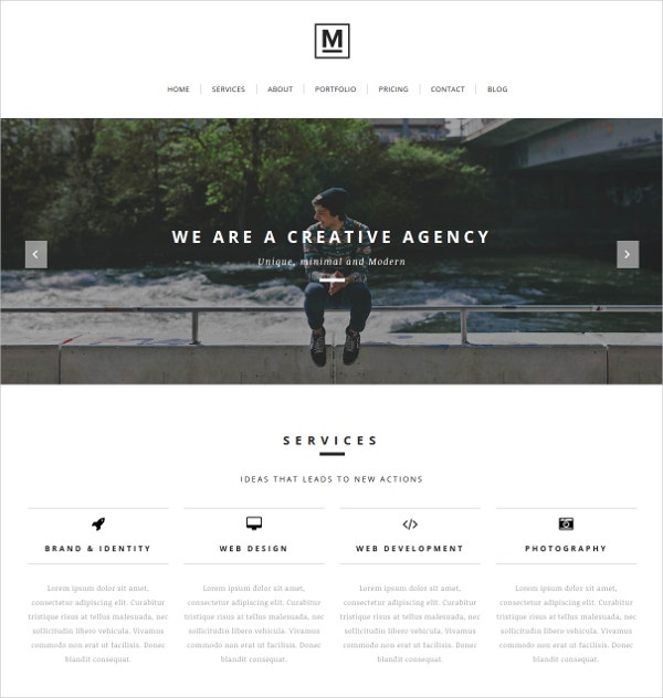 artist portfolio one page joomla website template 43