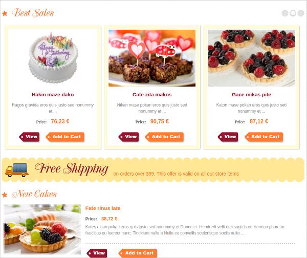 responsive joomla bakery shops website template