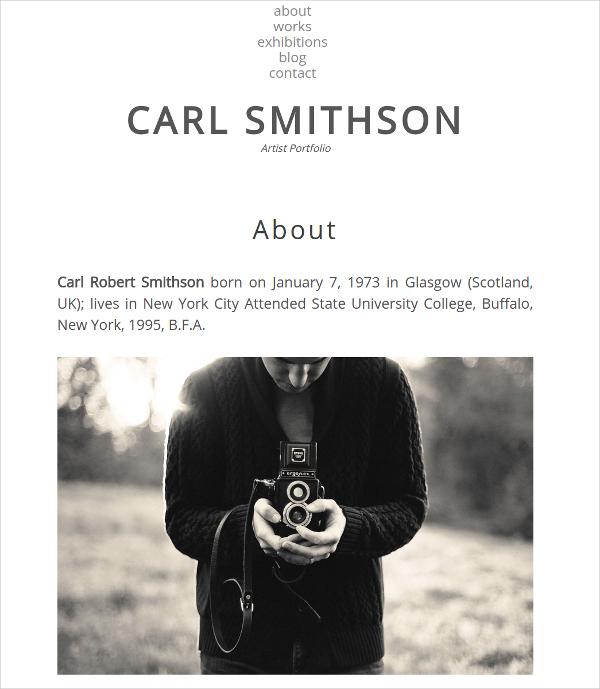 Responsive Artist Portfolio Website Theme $39