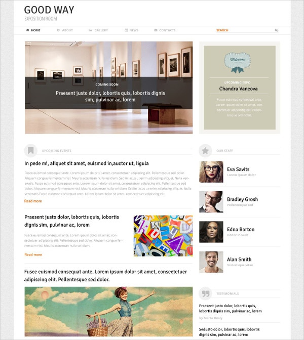 art exposition portfolio wordpress website theme 53