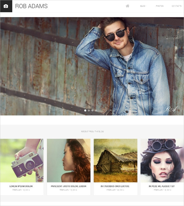 photo artist portfolio drupal website template 53