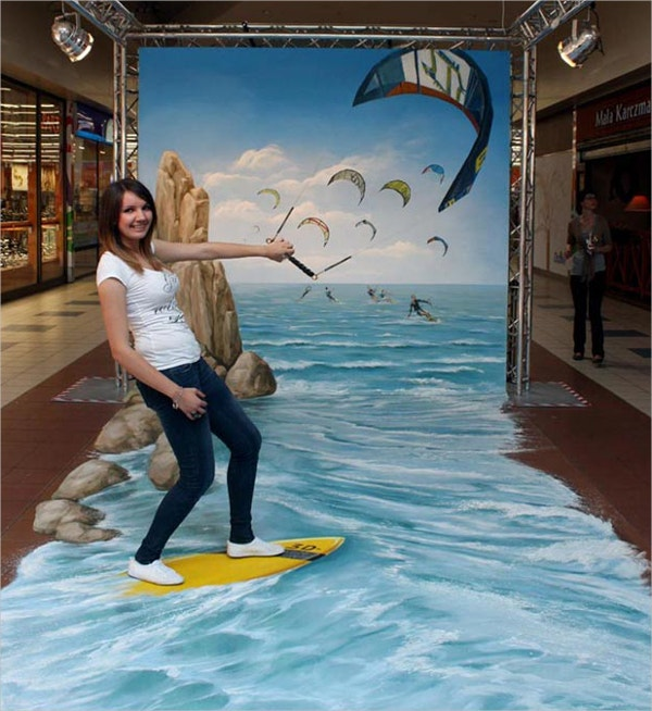 surfing 3d art