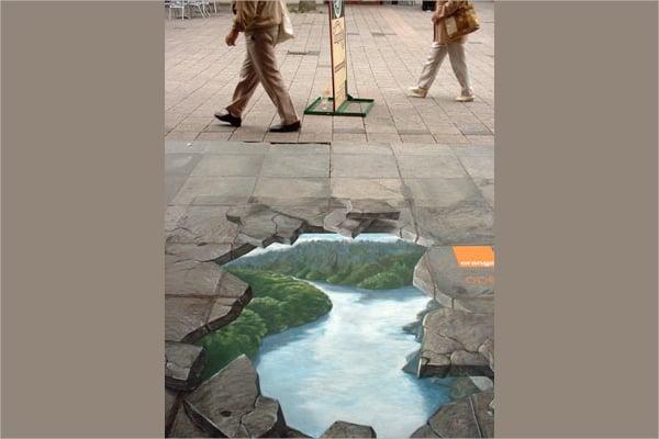 3D Art Road Art