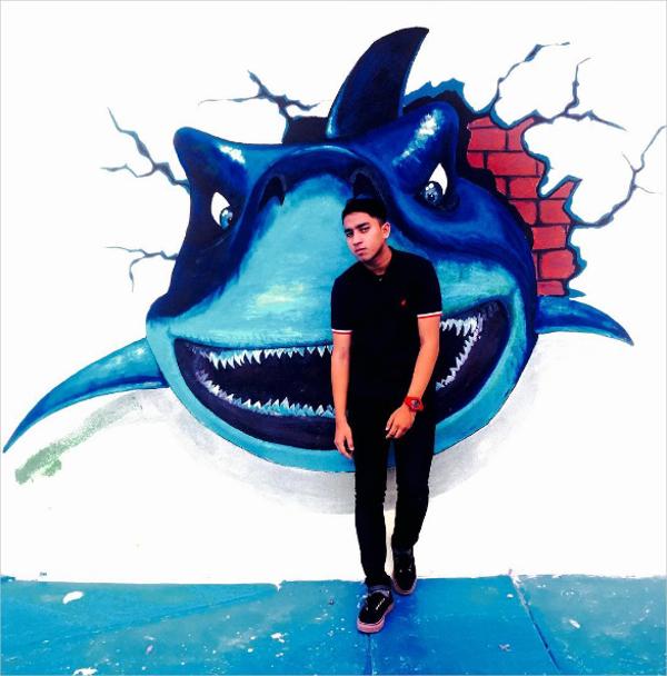 3D Shark Art