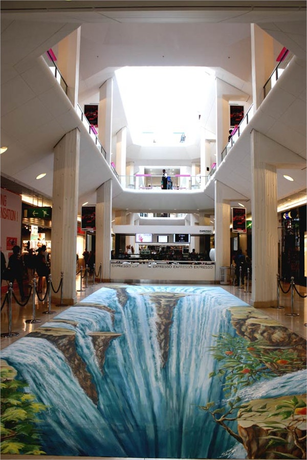 3d waterfall art