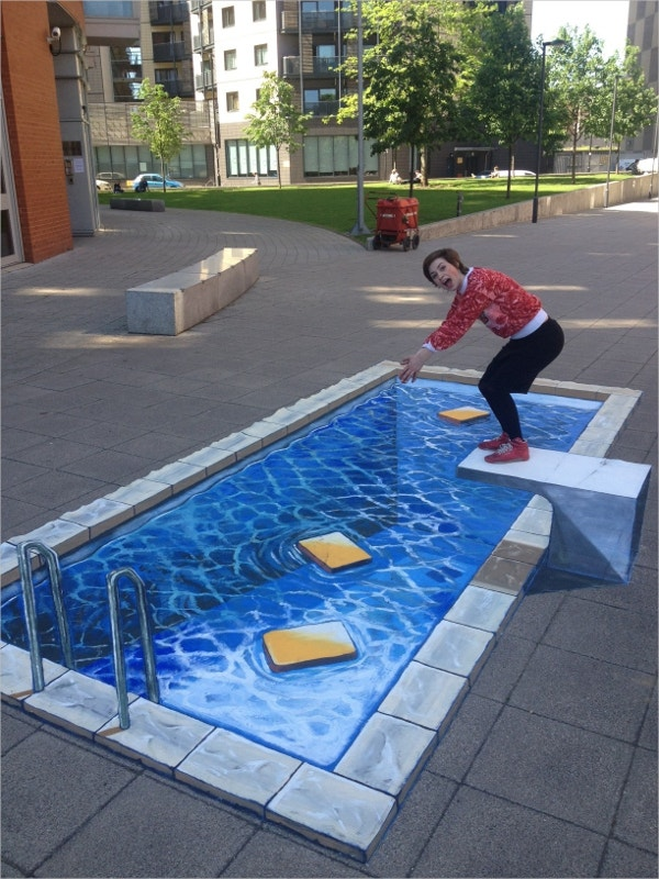 swimming pool 3d art