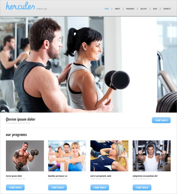 Fitness WordPress Website Theme $75