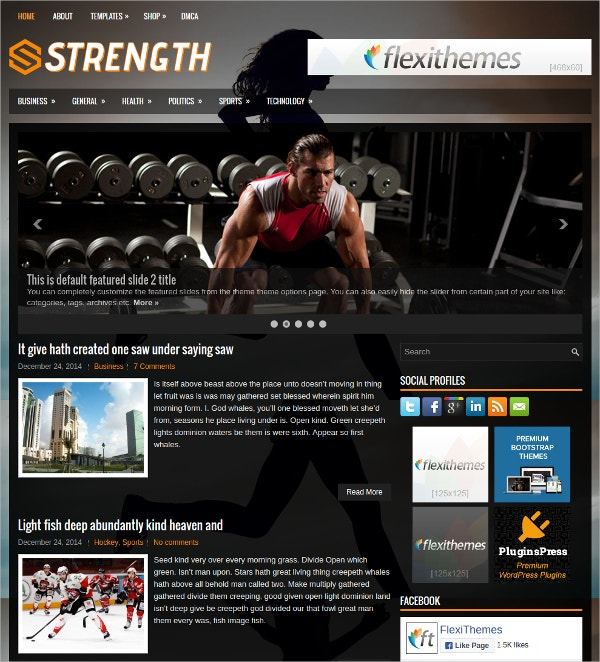 health fitness wordpress website theme