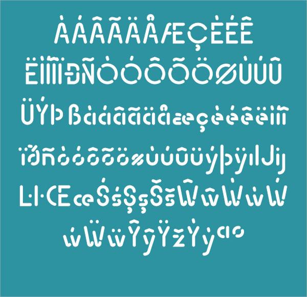 Transsiberian Stencil Font
