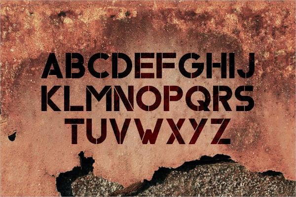 Ember Stencil Font