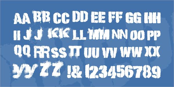 Punk Kid Stencil Font