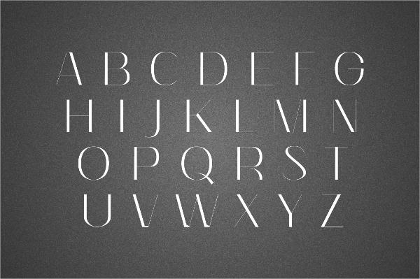 Simple Stencil Font
