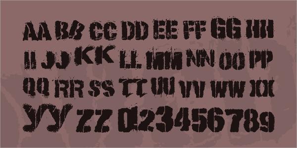 Rough Stencil Font
