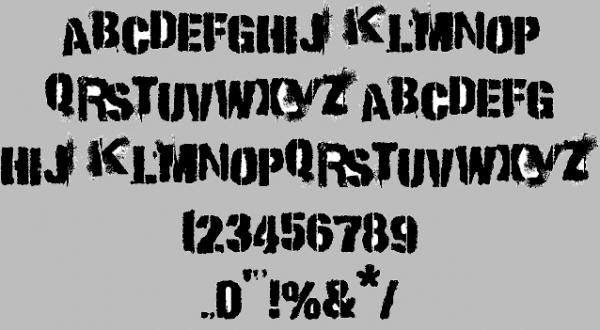 Punk Stencil Font
