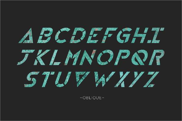 distinctive stencil font