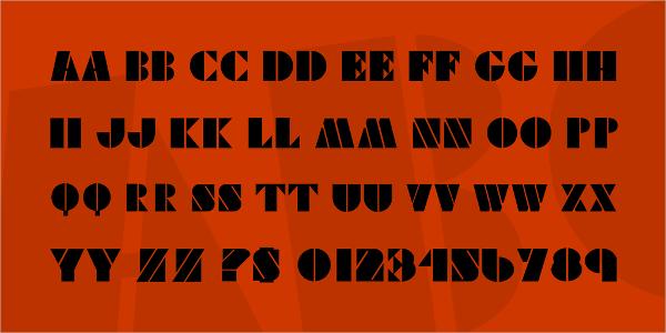 Viking Stencil Font