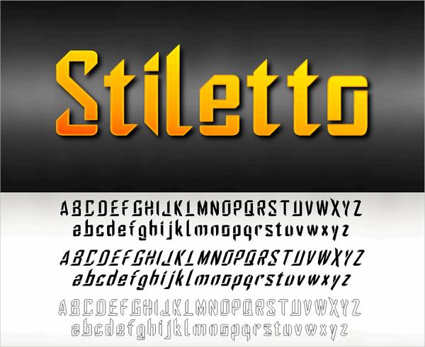 Stiletto Stencil Font