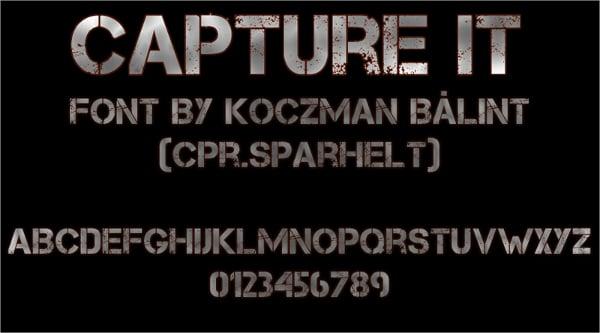 Capture Stencil Font