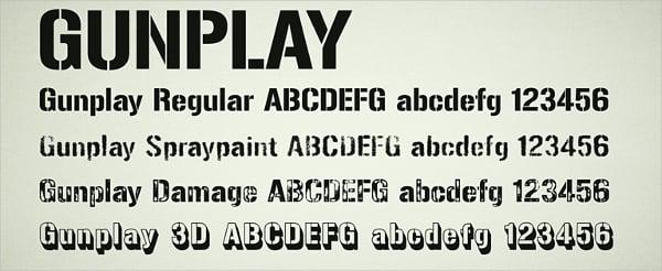 Gunplay Stencil Font